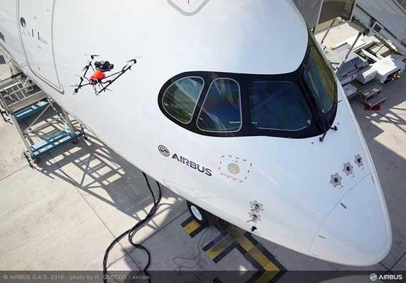 Airbus demonstrates aircraft inspection by drone at Farnborough  Innovation and digitalisation for production ramp up.