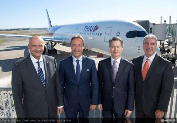 Thai Airways International becomes new operator of the A350 XWB