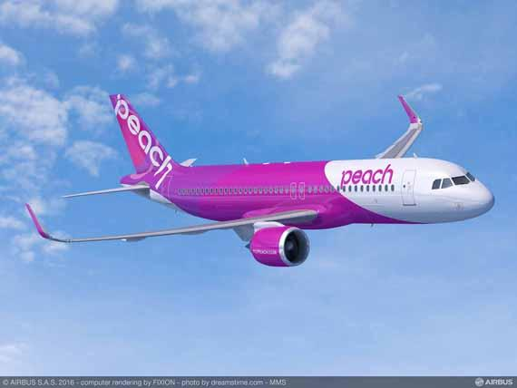 Peach Aviation orders 10 A320neo and three A320ceo