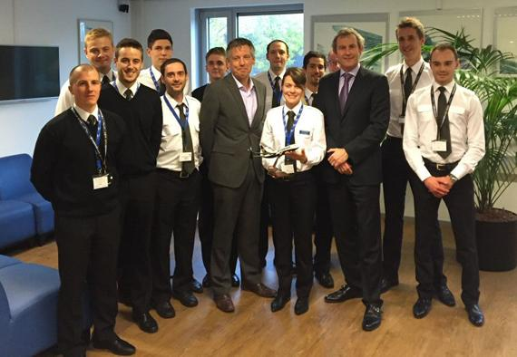 CAE celebrates the training of Ryanair's 2,000th cadet at its centre in Amsterdam