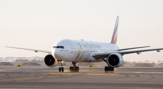 Emirates deploys special 'Year of Zayed' aircraft to mark first international flight at new Muscat International Airport terminal