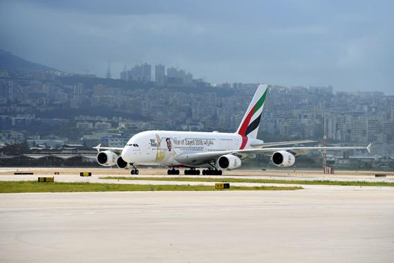 Emirates makes history with one-off A380 touchdown in Beirut