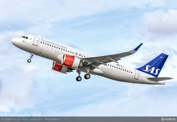 SAS signs firm order for 35 Airbus A320neo Family aircraft