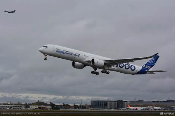 First A350-1000 becomes airborne for its maiden flight