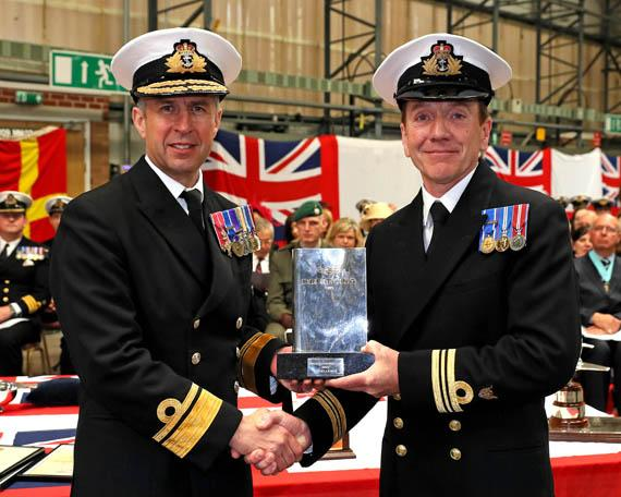 Royal Navy Lynx instructors at RNAS Yeovilton awarded Breitling Trophy with support from CAE