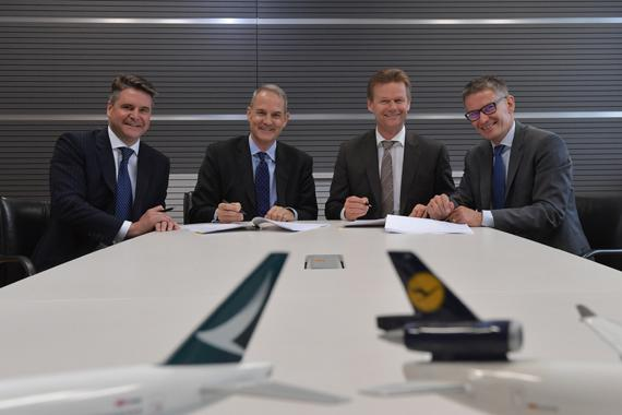 CATHAY PACIFIC AND LUFTHANSA CARGO  ENTER JOINT BUSINESS AGREEMENT