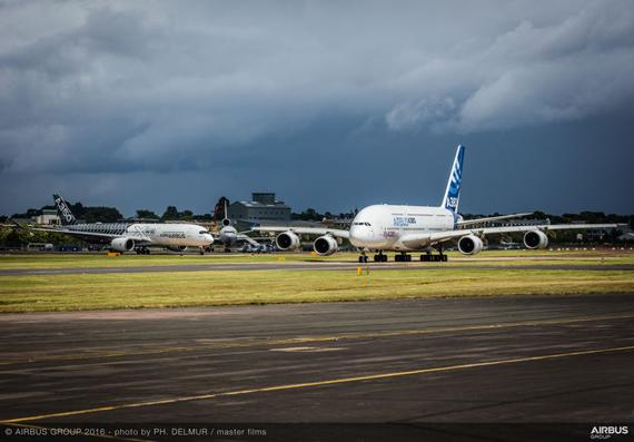 Airbus wins $35 billion of aircraft orders at Farnborough Air Show 2016