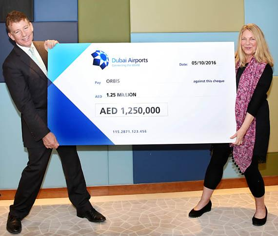 Dubai Airports raises AED 1.25 million for Orbis Flying Eye Hospital Raised amount can help restore sight of 31,000 children